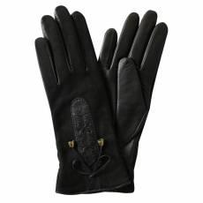 Перчатки женские кожаные на кашемире Edmins Э-Арт3 мод. 420д черный
