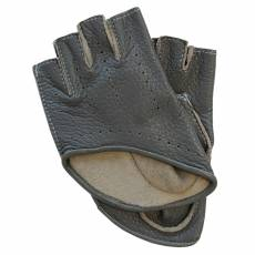 Перчатки без пальцев женские кожаные Edmins Э-Арт5 мод. 529 серый