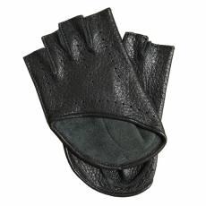 Перчатки без пальцев женские кожаные Edmins Э-Арт5 мод. 529 черный