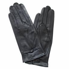 Перчатки без подкладки женские кожаные Edmins Э-Арт5 мод. 467 черный