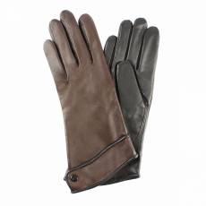 Перчатки женские кожаные на шерсти Edmins Э-21L мод. 253 коричневый