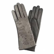 Перчатки женские кожаные на шерсти Edmins Э-2L мод. 0а серый