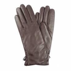 Перчатки женские кожаные на шерсти Edmins Э-2L мод. 104 коричневый