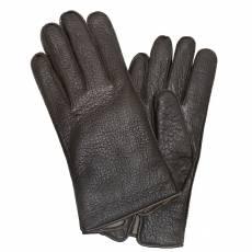 Перчатки мужские кожаные на шерсти Edmins Э-4M мод. 10 коричневый