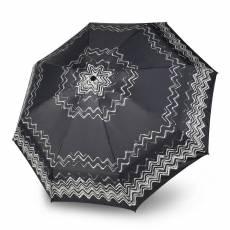 Зонт Knirps женский полный автомат T.100 Small Duomatic FLORIPA BLACK 9531008052