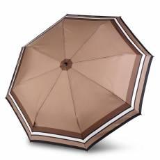 Зонт Knirps женский полный автомат T.200 Medium Duomatic BORDER TOFFEE 9532004943