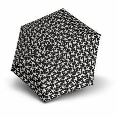 Зонт Knirps женский полный-автомат TS.200 Slim Medium Duomatic DREY BLACK 9542008396