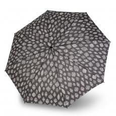 Зонт Knirps полный автомат T.200 Medium Duomatic LEAVES GREY UV Protection 9532018366