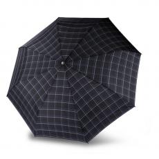 Зонт Knirps автомат T.201 Medium Duomatic CHECK BLACK & BLUE