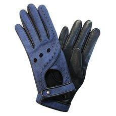 Перчатки женские кожаные без подкладки Edmins Э-20L мод. 212 джинса