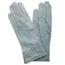 Перчатки женские кожаные без подкладки Edmins Э-20L мод. 229 голубой