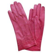 Перчатки женские кожаные без подкладки Edmins Э-20L мод. 229 розовый