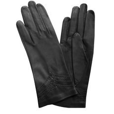 Перчатки женские кожаные без подкладки Edmins Э-20L мод. 229 черный