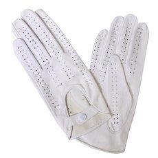 Перчатки женские кожаные без подкладки Edmins Э-20L мод. 242 белый