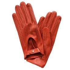 Перчатки женские кожаные без подкладки Edmins Э-20L мод. 242 коралл