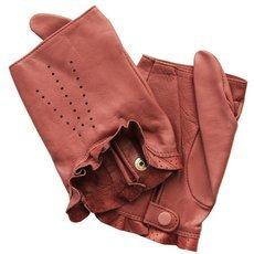 Перчатки без пальцев женские кожаные Edmins Э-20L мод. 506 розовый