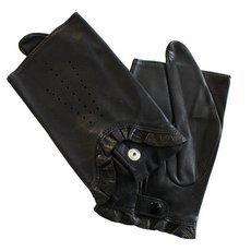 Перчатки без пальцев женские кожаные Edmins Э-20L мод. 506 черный