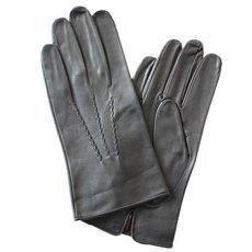 Перчатки мужские кожаные без подкладки Edmins Э-20M мод. 11 черные