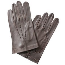 Перчатки мужские кожаные без подкладки Edmins Э-2M-1 мод. 14 коричневые