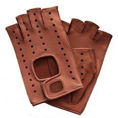 Перчатки без пальцев женские кожаные Edmins Э-Арт5 мод. 401 розовый