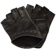 Перчатки без пальцев женские кожаные Edmins Э-Арт5 мод. 528 черный