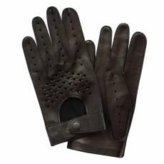 Перчатки мужские кожаные без подкладки Edmins Э-20M мод. 23 черный