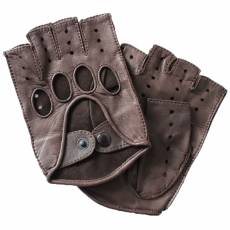 Перчатки без пальцев мужские кожаные Edmins Э-20M мод. 42а коричневый