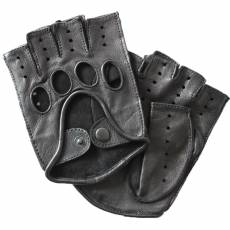 Перчатки без пальцев мужские кожаные Edmins Э-20M мод. 42а черный
