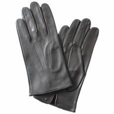 Перчатки мужские кожаные без подкладки Edmins Э-20M мод. 6 черный