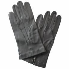Перчатки мужские кожаные без подкладки Edmins Э-2M-1 мод. 24 черный