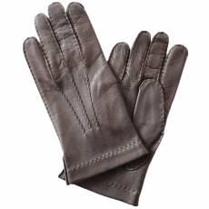 Перчатки мужские кожаные на шелке Edmins Э-21M-1 мод. 12 коричневый