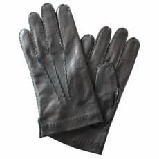 Перчатки мужские кожаные на шелке Edmins Э-21M-1 мод. 12 черный