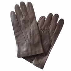 Перчатки мужские кожаные на шелке Edmins Э-21M-1 мод. 14 коричневый