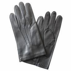 Перчатки мужские кожаные на шелке Edmins Э-21M-1 мод. 14 черный