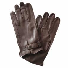 Перчатки мужские кожаные на шелке Edmins Э-21M-1 мод. 17 коричневый