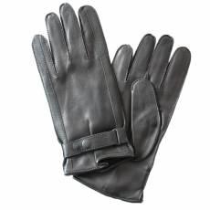 Перчатки мужские кожаные на шелке Edmins Э-21M-1 мод. 17 черный