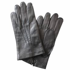 Перчатки мужские кожаные на шелке Edmins Э-21M-1 мод. 24 черный