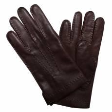 Перчатки мужские кожаные на шерсти Edmins Э-21M мод. 12 коричневый