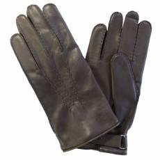 Перчатки мужские кожаные на шерсти Edmins Э-21M мод. 13 коричневый