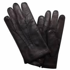 Перчатки мужские кожаные на шерсти Edmins Э-21M мод. 14 черный