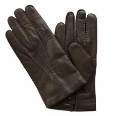 Перчатки мужские кожаные на шерсти Edmins Э-21M мод. 14 коричневый