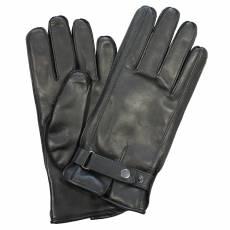 Перчатки мужские кожаные на шерсти Edmins Э-21M мод. 17 черный