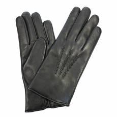 Перчатки мужские кожаные на шерсти Edmins Э-2M мод. 11 черный