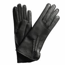 Перчатки женские кожаные на шерсти Edmins Э-41L мод. 14 черный