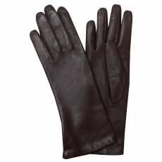 Перчатки женские кожаные на шелке Edmins Э-21L-1 мод. 0 коричневый