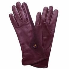 Перчатки женские кожаные на нат. шелке Edmins Э-Арт1 мод. 513 фиолетовый