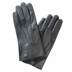 Перчатки мужские кожаные на шелке Edmins Э-2M-1 мод. 19 черный
