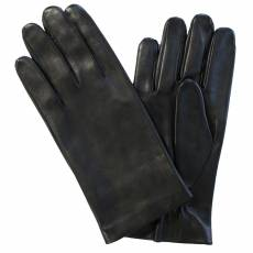 Перчатки мужские кожаные на шелке Edmins Э-2M-1 мод. 39 черный