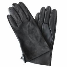 Перчатки мужские замша/кожа на шелке Edmins Э-2M-1 мод. 40 черный