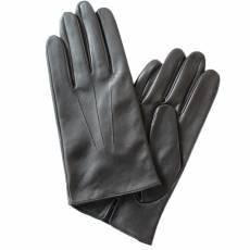 Перчатки мужские кожаные на шелке Edmins Э-2M-1 мод. 6 черный